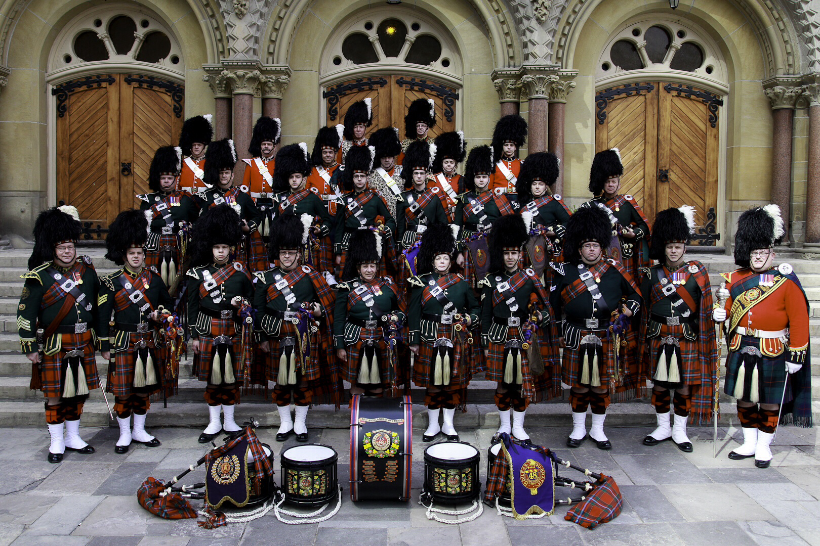 <b>4th Canadian Division Combined Band of the Argyll and Sutherland Highlanders, 48th Highlanders, and Royal Highland Fusiliers</b><br>