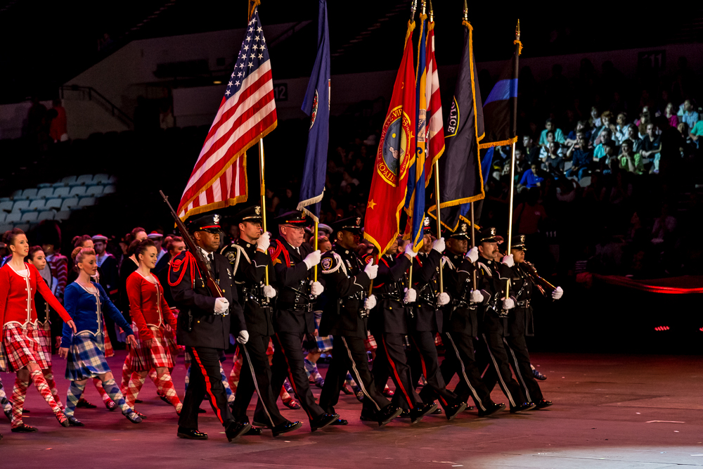 <b>Hampton Roads Police Color Guards</b><br>With a mission to protect and serve, members of the Chesapeake, Newport News, and Norfolk, Virginia Police Departments proudly represent their cities in a display of integrity and honor.