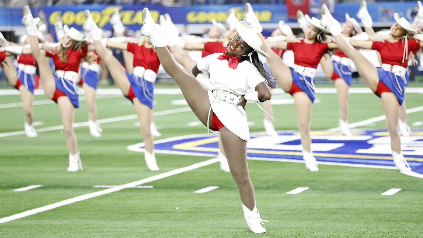 """<b>The Kilgore College Rangerettes, the first precision dance drill team in the world, has shared their """"all-American image"""" since 1940. Wearing their traditional red, white, and blue uniform, the Rangerettes have shared their Texas spirit from coast-to-coast and border-to-border in the United States and on several world tours. Their practice routine is intense and the results are spectacular!"""