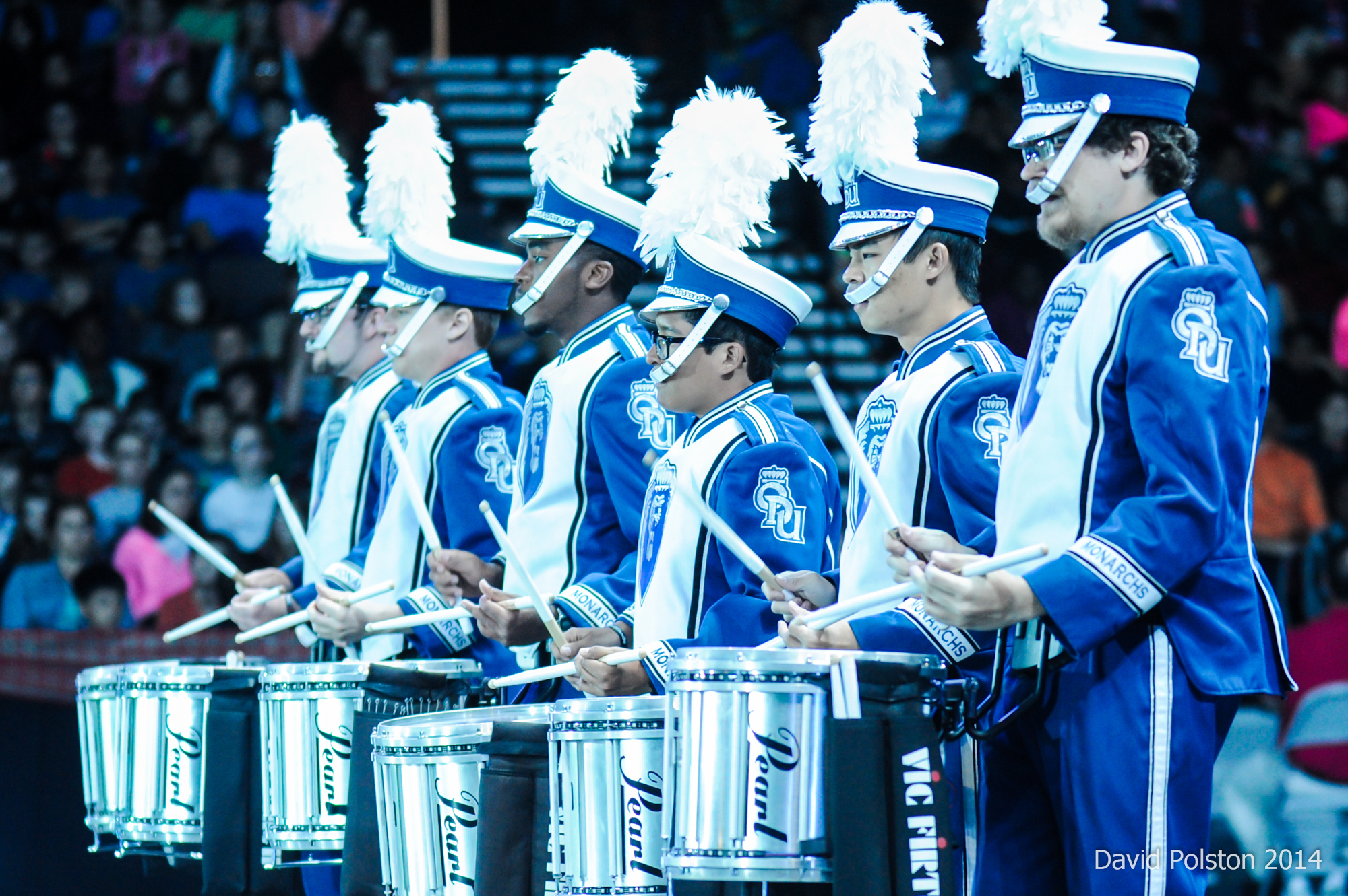 <b>Old Dominion University Monarch Drumline and Flag Corps combines