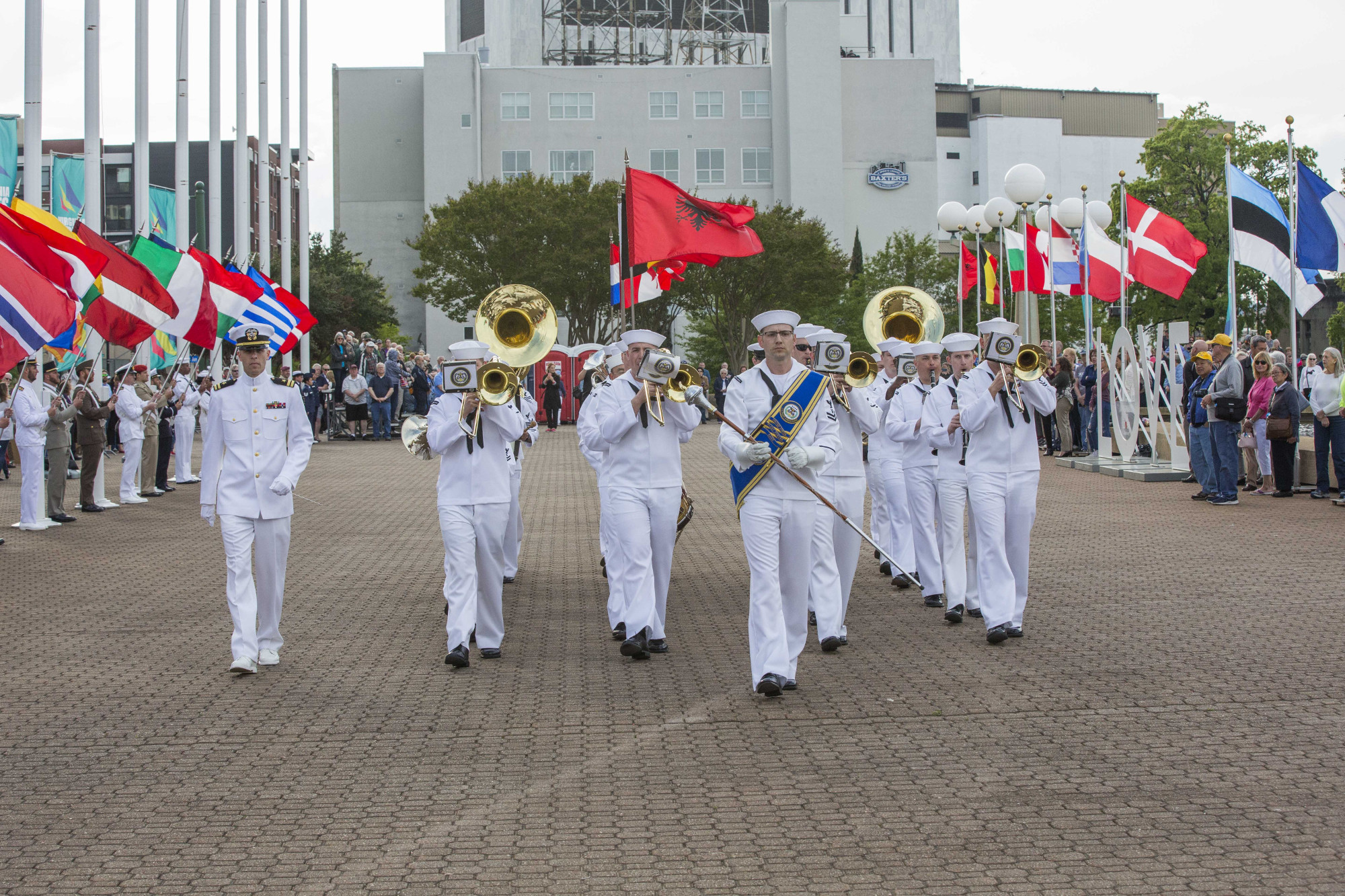 <b>Established in 1945, the U.S. Fleet Forces Band, known as The Finest of the Fleet, serves as the musical ambassador for Commander, U.S. Fleet Forces Command, in Norfolk, Virginia. Comprised of 45 Navy musicians, the band performs more than 400 engagements annually and regularly deploys to Central and South America.